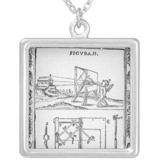 Illustration of Giulio Troili's idea Square Pendant Necklace