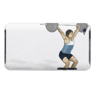 Illustration of man performing weightlifting Case-Mate iPod touch case