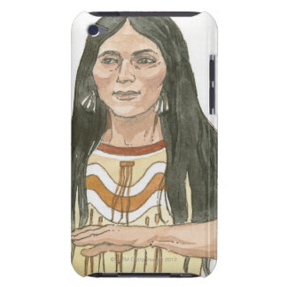 Illustration of Native North American woman Barely There iPod Case
