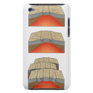 Illustration of oceanic plates moving apart and iPod Case-Mate case