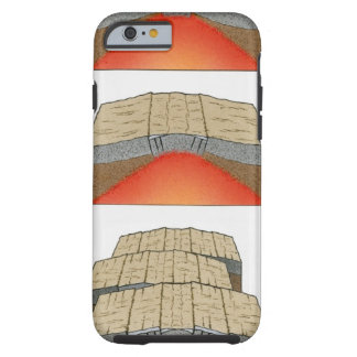 Illustration of oceanic plates moving apart and tough iPhone 6 case