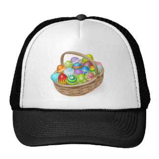 Illustration of painted Easter eggs Hat