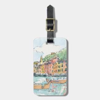 Illustration of Porofino Harbor Luggage Tag