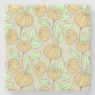 Illustration of pumpkins stone coaster