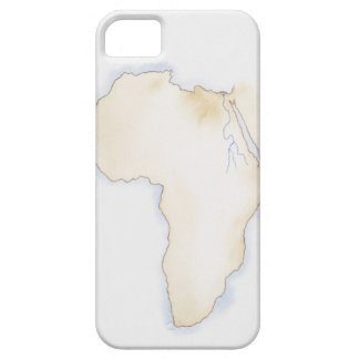 Illustration of simple outline map of Africa iPhone 5 Cases