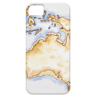 Illustration of simple outline map of Australia iPhone 5 Cases