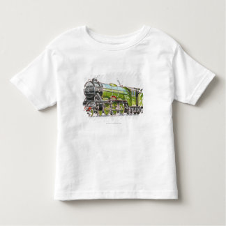 Illustration of the Flying Scotsman train T Shirt