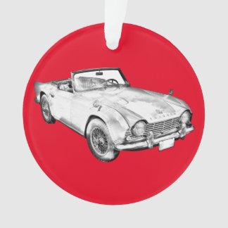 Illustration Of Triumph Tr4 Sports Car