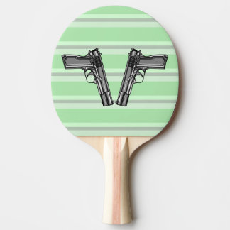 Illustration of two pistols ping pong paddle