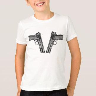 Illustration of two pistols tee shirts