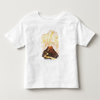 Illustration of volcano erupting toddler T-Shirt