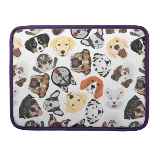 Illustration Pattern Dogs Sleeve For MacBooks