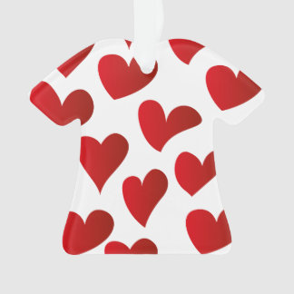 Illustration pattern painted red heart love