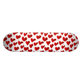 Illustration pattern painted red heart love 21.6 cm skateboard deck