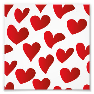 Illustration pattern painted red heart love art photo