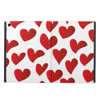 Illustration pattern painted red heart love case for iPad air