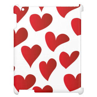 Illustration pattern painted red heart love case for the iPad 2 3 4