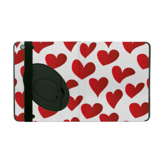 Illustration pattern painted red heart love cases for iPad