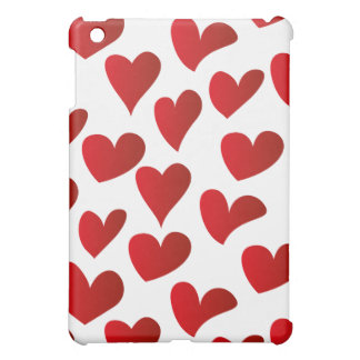 Illustration pattern painted red heart love cover for the iPad mini