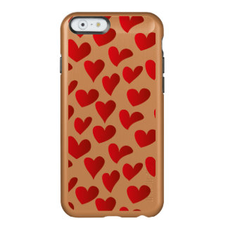 Illustration pattern painted red heart love incipio feather® shine iPhone 6 case