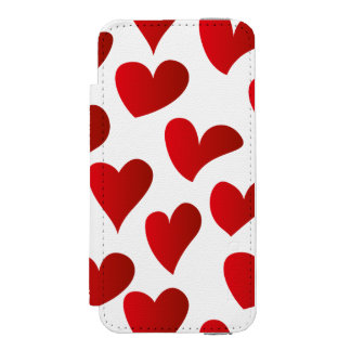 Illustration pattern painted red heart love incipio watson™ iPhone 5 wallet case