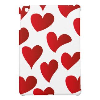 Illustration pattern painted red heart love iPad mini cases