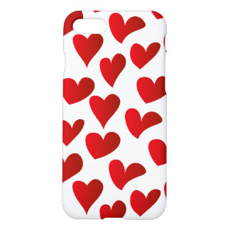 Illustration pattern painted red heart love iPhone 7 case