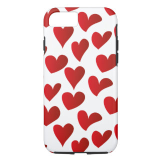 Illustration pattern painted red heart love iPhone 8/7 case
