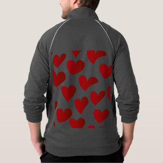 Illustration pattern painted red heart love jacket