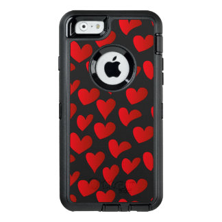 Illustration pattern painted red heart love OtterBox iPhone 6/6s case