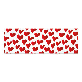 Illustration pattern painted red heart love photograph