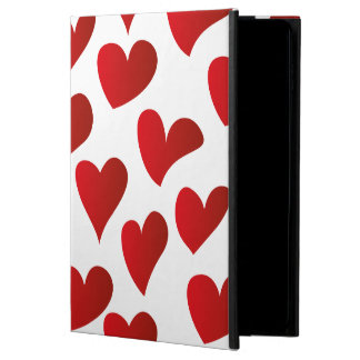 Illustration pattern painted red heart love powis iPad air 2 case