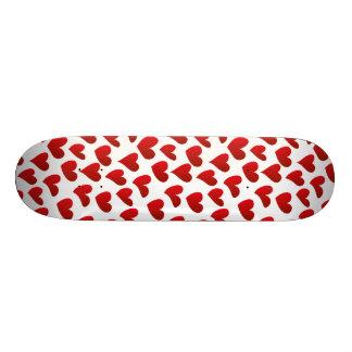 Illustration pattern painted red heart love skate board decks