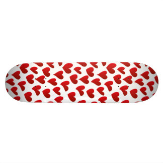 Illustration pattern painted red heart love skate board decks
