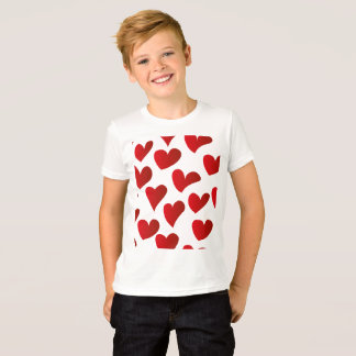 Illustration pattern painted red heart love T-Shirt