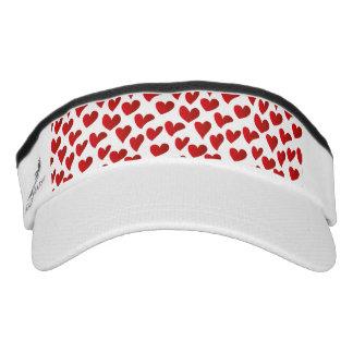 Illustration pattern painted red heart love visor