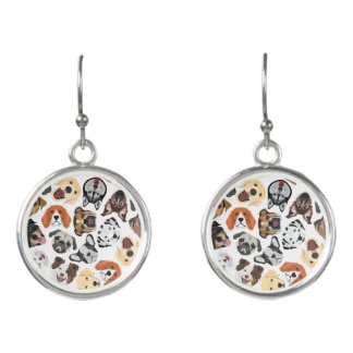 Illustration Pattern sweet Domestic Dogs Earrings