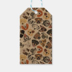 Illustration Pattern sweet Domestic Dogs Gift Tags