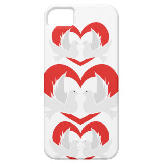 Illustration peace doves with heart barely there iPhone 5 case