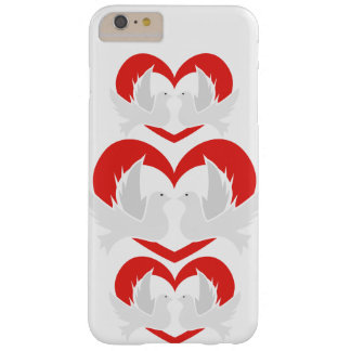 Illustration peace doves with heart barely there iPhone 6 plus case