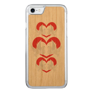 Illustration peace doves with heart carved iPhone 8/7 case