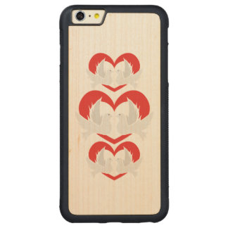 Illustration peace doves with heart carved® maple iPhone 6 plus bumper case