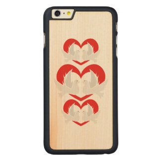 Illustration peace doves with heart carved® maple iPhone 6 plus case