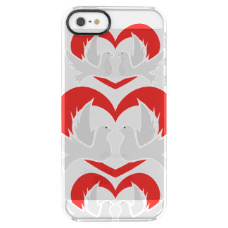 Illustration peace doves with heart clear iPhone SE/5/5s case