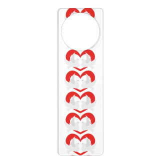 Illustration peace doves with heart door hanger