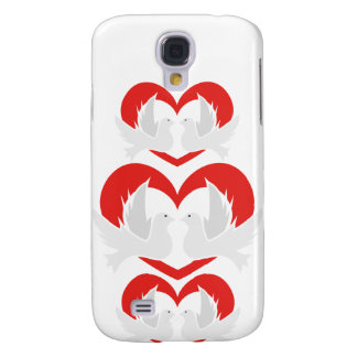 Illustration peace doves with heart galaxy s4 case
