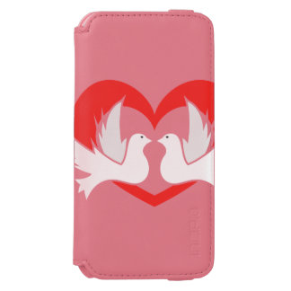 Illustration peace doves with heart incipio watson™ iPhone 6 wallet case