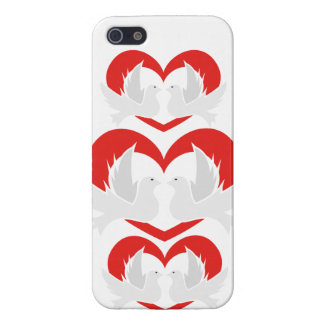 Illustration peace doves with heart iPhone 5/5S case