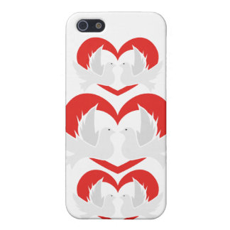 Illustration peace doves with heart iPhone 5/5S cover