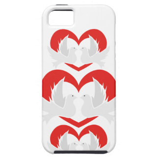 Illustration peace doves with heart iPhone 5 case
